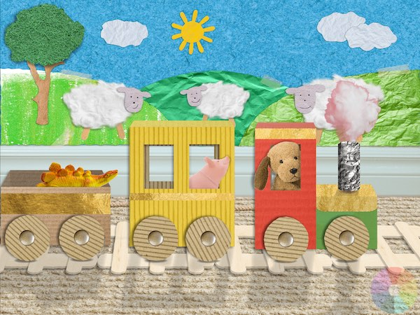 Scribbaloo Train is a fun, interactive picture book for toddlers and preschoolers