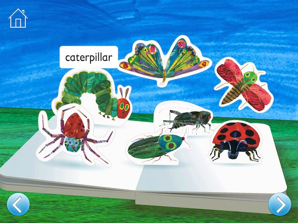 The Very Hungry Caterpillar and Friends First Words features more than 80 words with colorful illustrations by Eric Carle