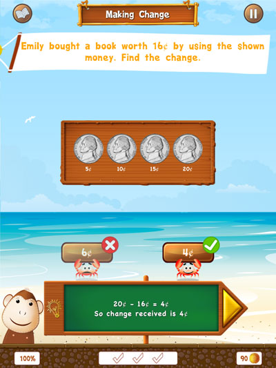 Splash Money review - The app has interactive and well-designed lessons.
