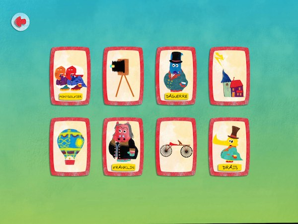 Also included is a matching game with three difficulty levels. Here, you must match the invention to the inventor.
