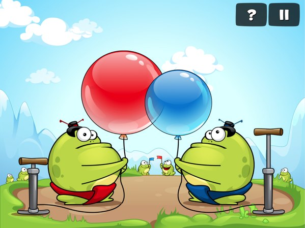 Tap The Frog 2 version 1.1 review - Play against a friend on the same device