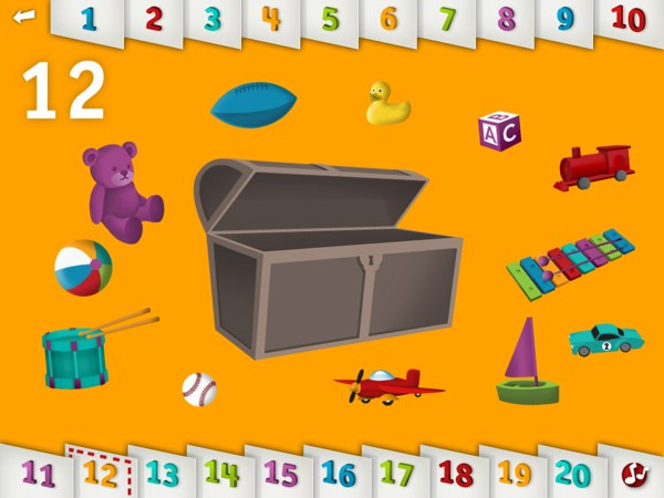 20 Recommended Apps for 1-Year-Olds -- Tally Tots makes counting fun