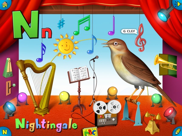 Goodnight ABC review - In Goodnight ABC, each stage is decorated with a specific theme to suit the animal.