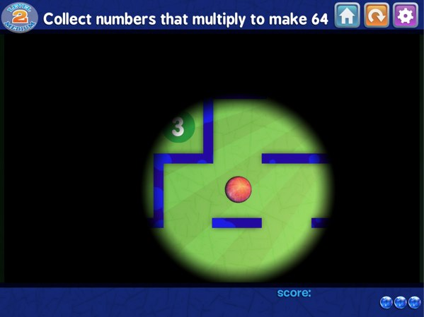 Marble Math - Bonus items and obstacles make the gameplay more challenging