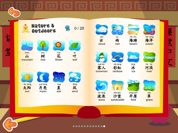Printables At Words For Kids kids learn mandarin teach yourself with 240 everyday various nature related words