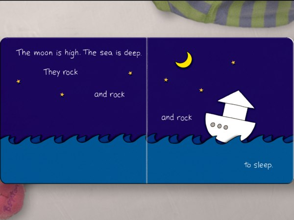 The Going to Bed Book review - In addition to tapping and smudging, you can also tilt the device to manipulate elements in the book, such as to rock the boat.</span></span>