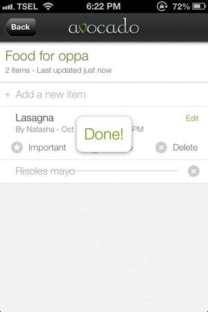 Avocado review - Create to-do lists together.