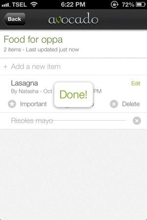 Avocado review - Create to-do lists together.