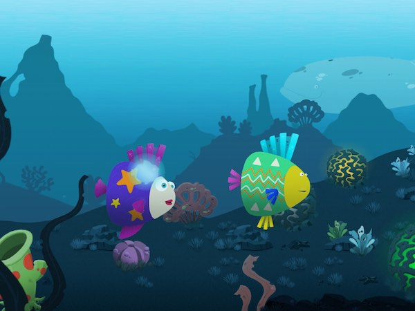 Fill the interactive underwater scenery with your own fishes