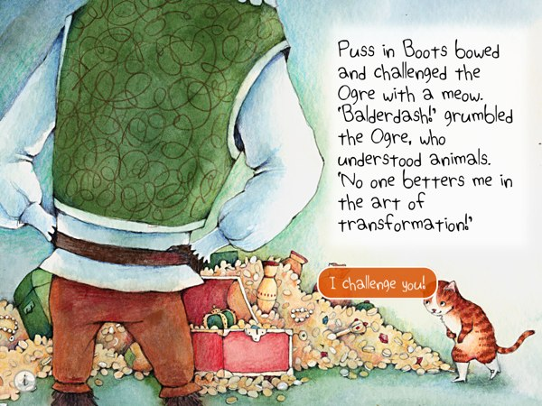 iPad app reviews for Juniors - Puss in Boots - The Great Adventure is an excellent storybook app