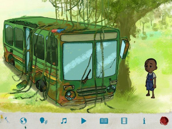 Walter finds an abandoned bus.