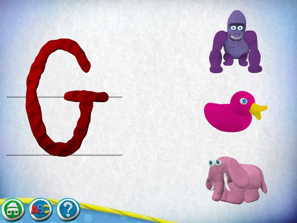 Find which object corresponds to the letter on the left.