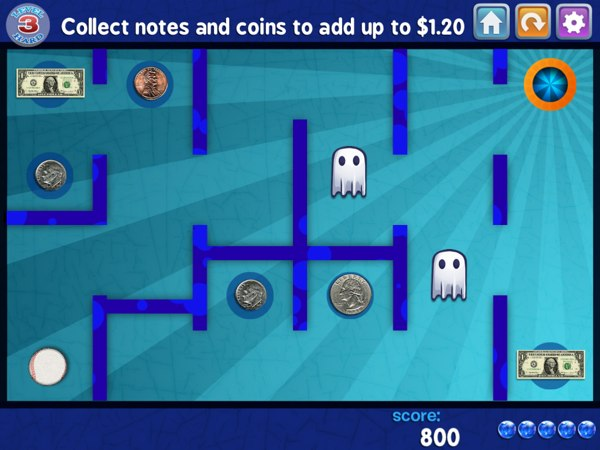 Marble Math Junior review - Practice math problems using coins and bank notes