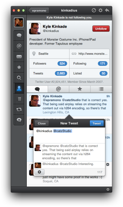 Tweetbot for Mac review - The 1.0 version adds the ability to view conversation in the compose window
