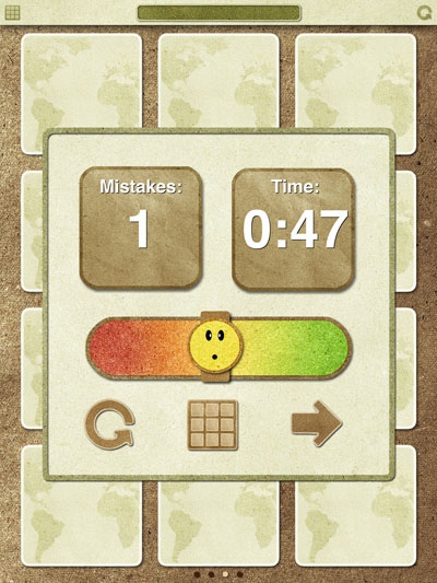 Turn and Learn review - At the end of each game, a summary of your effort is denoted using a happy or angry emoticon.