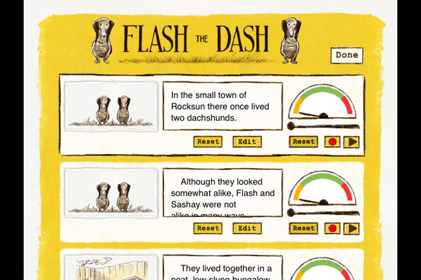 Flash the Dash review - The app includes a professionally recorded narration but you can also record your own voice if you prefer to.