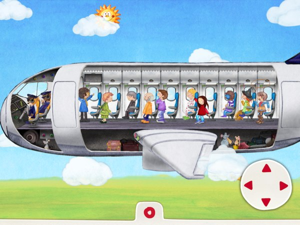Steer the airplane and see how the passengers enjoy the flight.