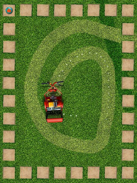Swipe to make the lawnmower trace your lines.