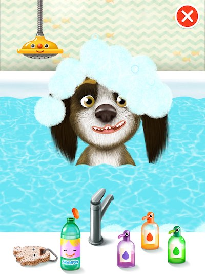 Bathe, clean, and help the cute characters go potty