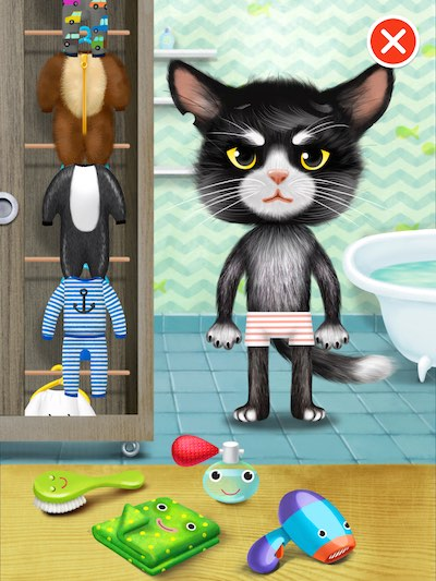 The new activities include a dress-up game with a colorful selection of clothes