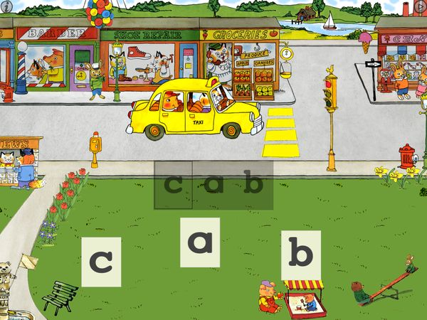 Spell the sight word 'cab'.