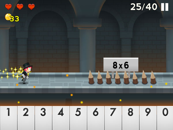 Number Run review - Avoid cliffs, ogres, spiky traps and other obstacles to capture the evil Baron von Count.