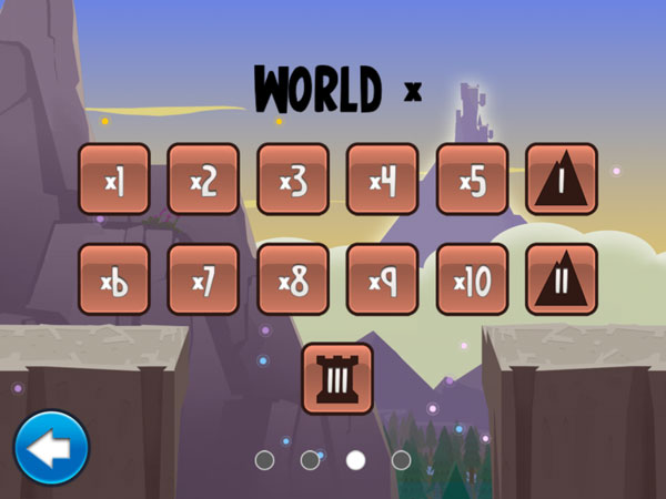 Number Run review - The app consists of four different worlds that cover each of the basic math operations - addition, subtraction, multiplication and division.