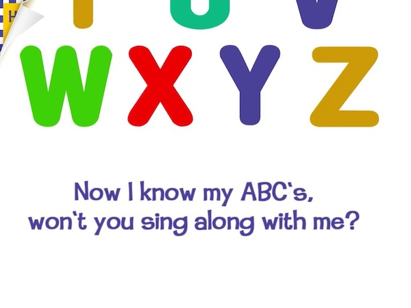Wee Sing & Learn ABC Review - The ABC Song in this app has a slightly different ending.