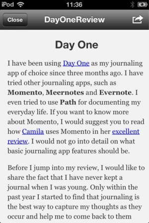 iA Writer review - iA Writer on iOS has a Preview mode, which allows user to view how the formatted article looks like.