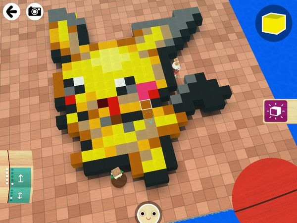 A giant Pichu made with Toca Builders.