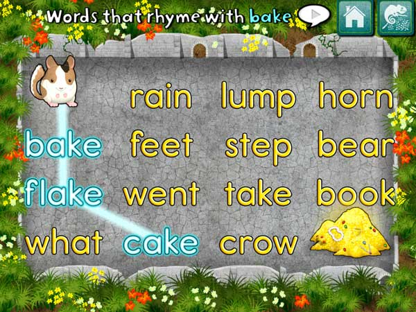 Monkey Word School review - Helping learn about rhymes.