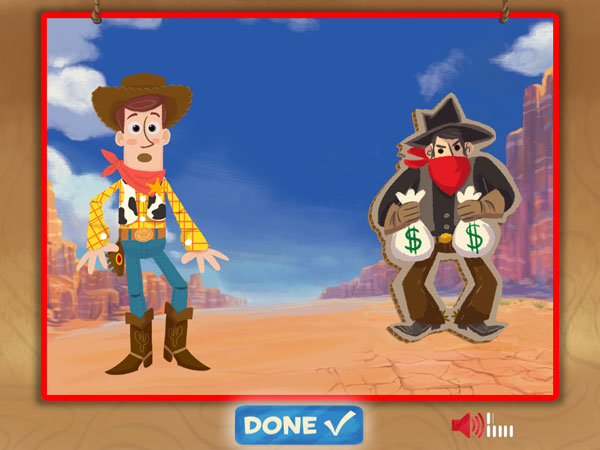 Compose your own action shots with Woody, Buzz, and more.