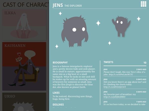 Jens' character sheet.