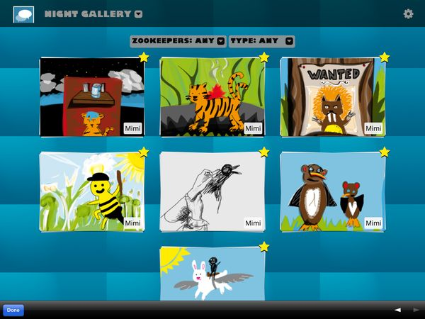 The online dashboard lets parents see their child's drawings and send custom missions.