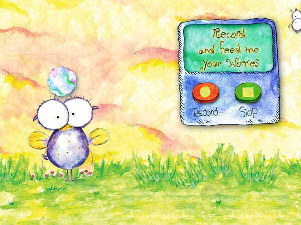 Wince - Don't Feed the Worry Bug review - The app includes a mini activity to illustrate the main concept of the story.