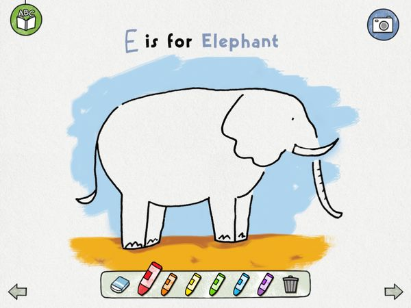 E is for Elephant.