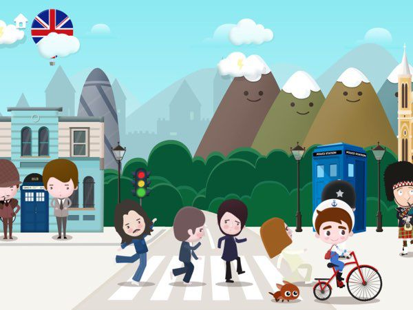 Tap on everything and find interesting animations, such as the Beatles posing for a photoshoot as they cross the street.