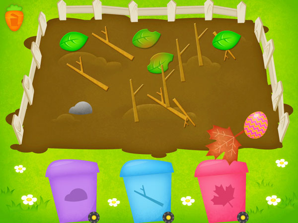 Happy Little Farmer review - Easter eggs can be collected to unlock cute stickers.