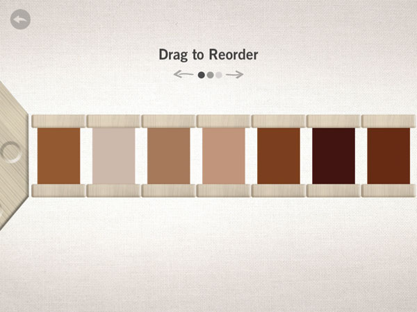 Reorder the color from light to dark.