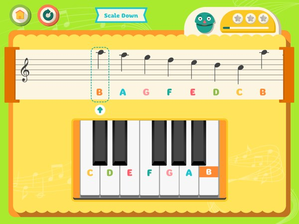 Learn the musical notes and play the song according to the tempo.