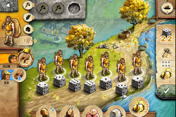 Stone Age: The Board Game review - The game uses the worker placement mechanic.