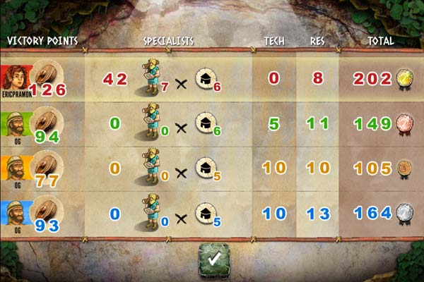 Stone Age: The Board Game review - Play with up to four people via Game Center.