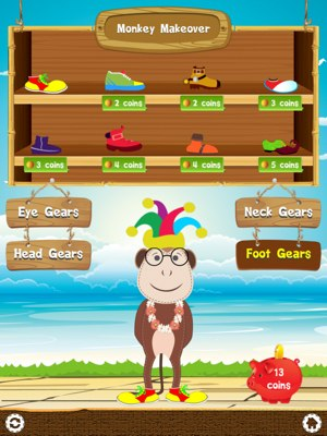Tell Time app review - The friendly app mascot, Chimpz, accompany your junior as they learn