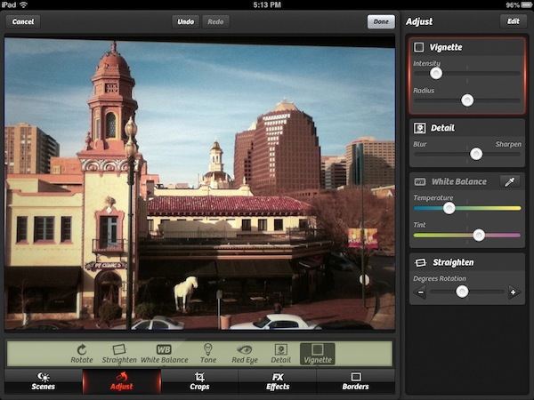The new Camera+ Review - The new Camera+ for iPad has a lot of advanced image adjustments.