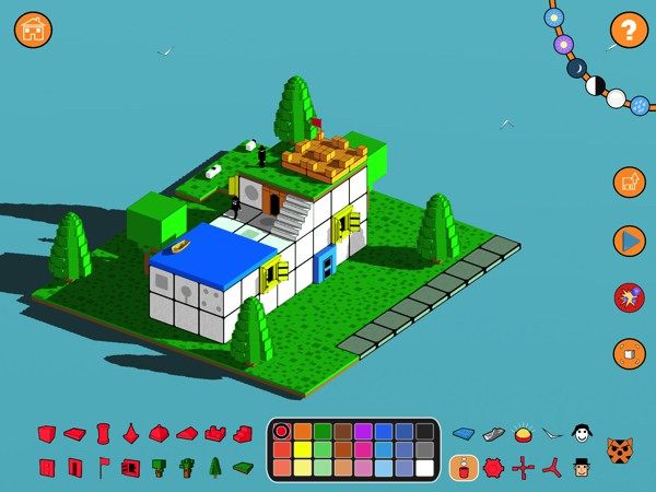 More games like minecraft for kids blox 3d world creator for Design your own house game 3d