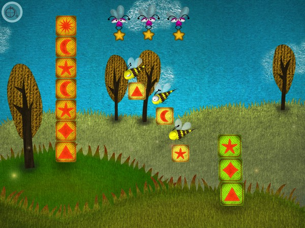 Puzzlecopters offers four mini games, each with six varying levels, to help preschoolers learn about patterns and sequences