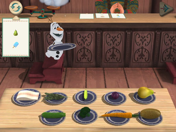 Whip up a dish for queen Elsa in the Cooking Creations game