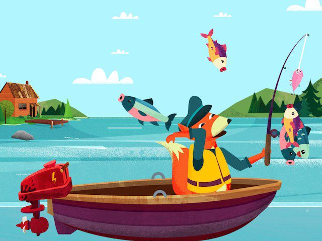 Practice your fishing skills with Mr. Fox in Kapu Fishing.