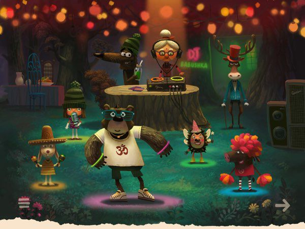 Green Riding Hood features beautiful illustrations and cute characters