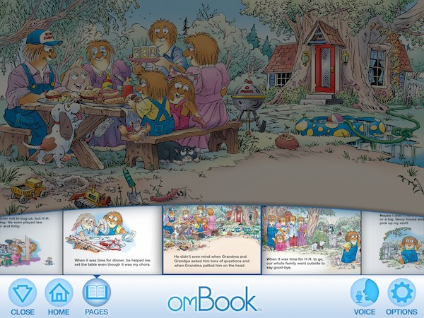 The app has multiple reading modes to suit different reading levels, and a feature to record your own narration